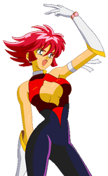 Cutie Honey Pixel Portrait by CoolTaff12
