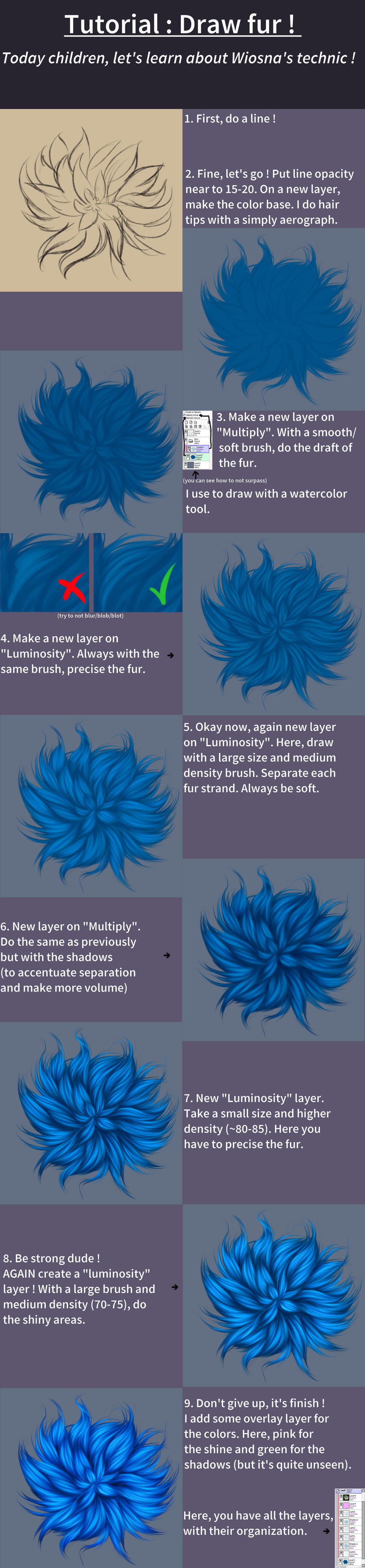 How To Draw Fur ? By Vanilleblanche