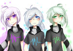 Violet-Aqua-Green