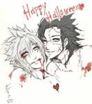 Zack and Cloud - Halloween