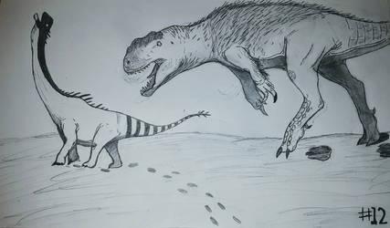 Jurassic June: Day 12, Yangchuanosaurus by TheDilophosaurus1287