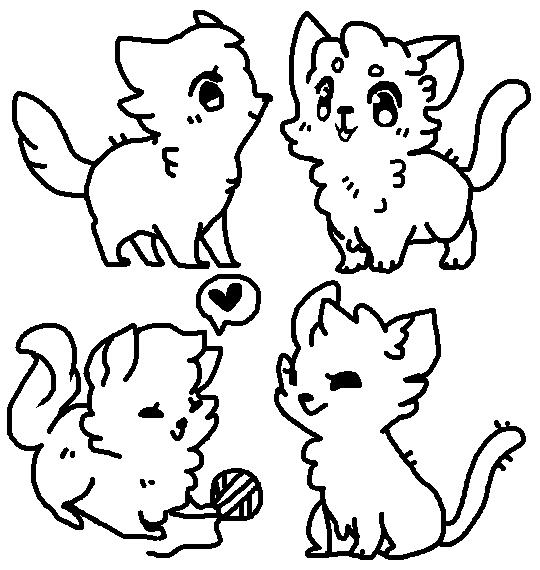 cat bases by ariamisu on deviantart