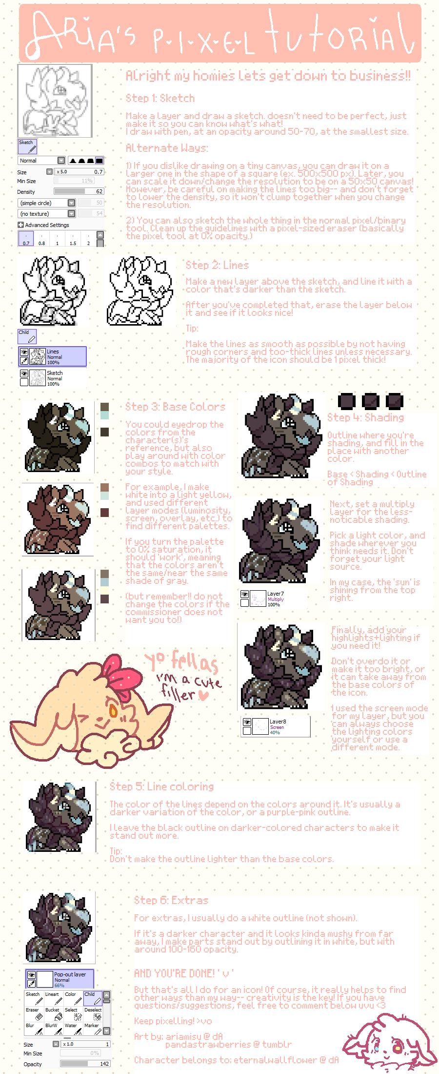 Aria's Pixel Tutorial! by ariamisu