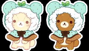 ice cream kumas by ariamisu