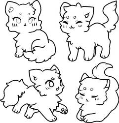 CAT BASES 4 by ariamisu