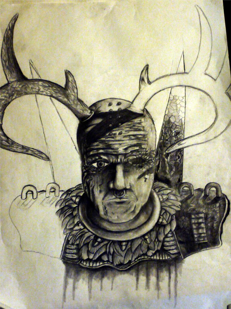 alien warrior WIP by burninghealz