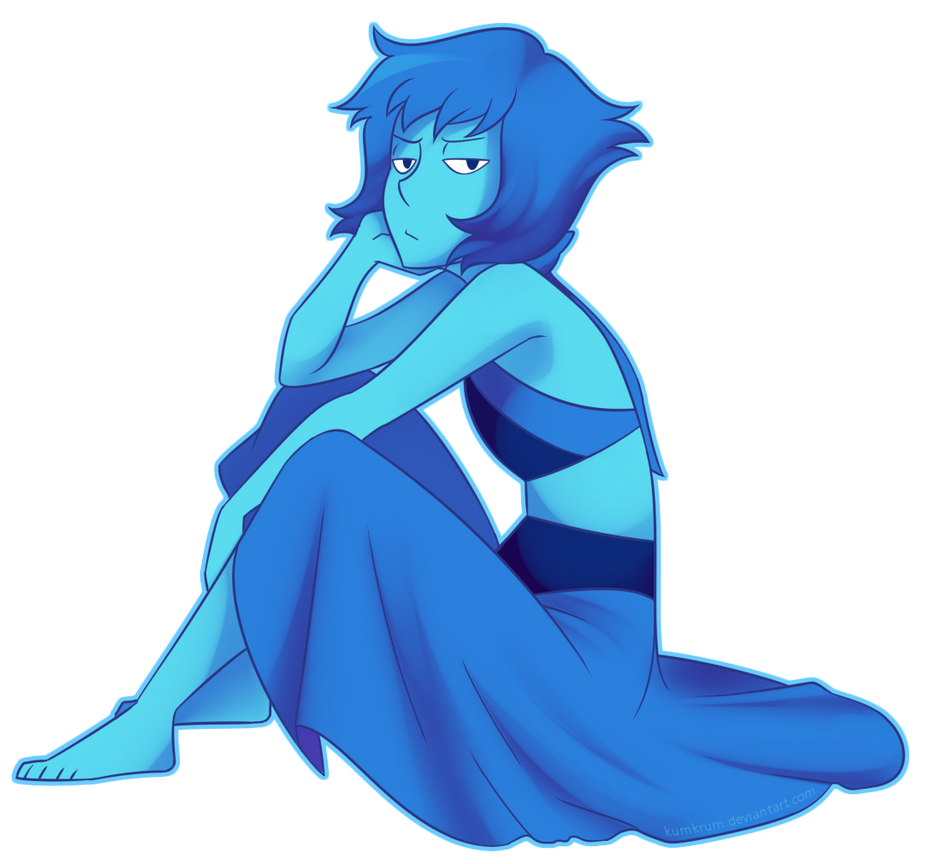 I really love Lapis Lazuli from Steven Universe and I love her entirely done self even more On tumblr