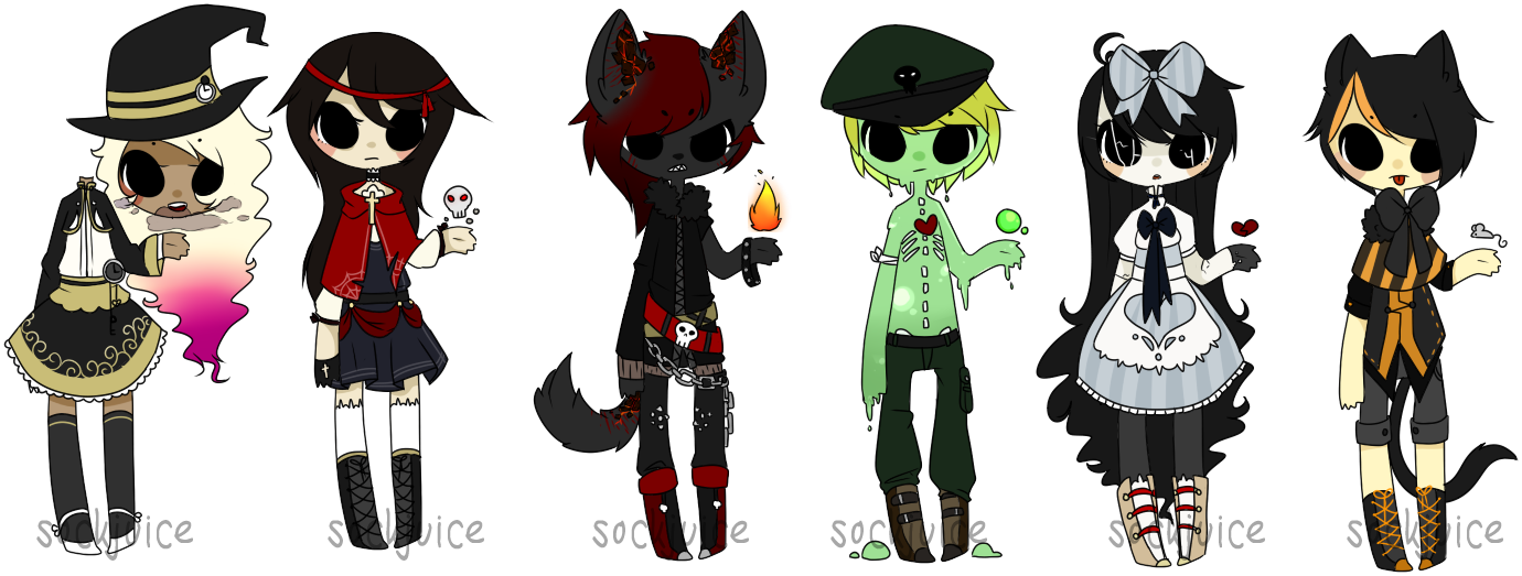 [halloween set : offer] [closed] by sockjuice