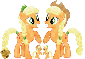 -V- Crystal Applejack by Pirill-Poveniy