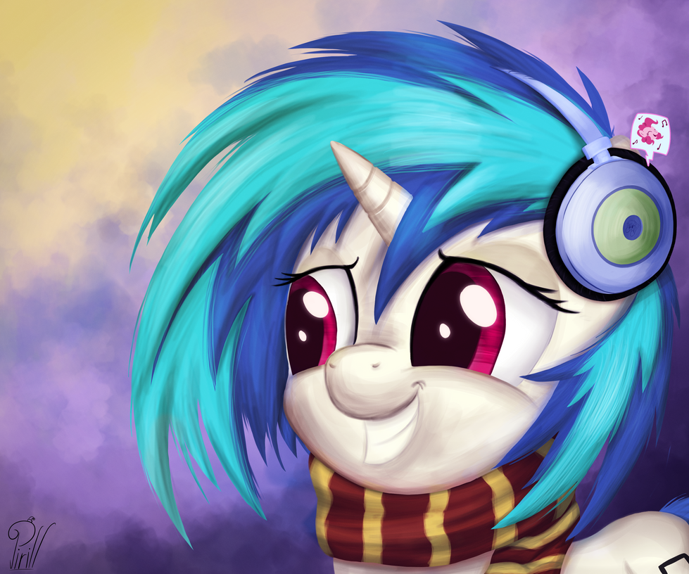 Vinyl Scratch Portrait by Pirill-Poveniy