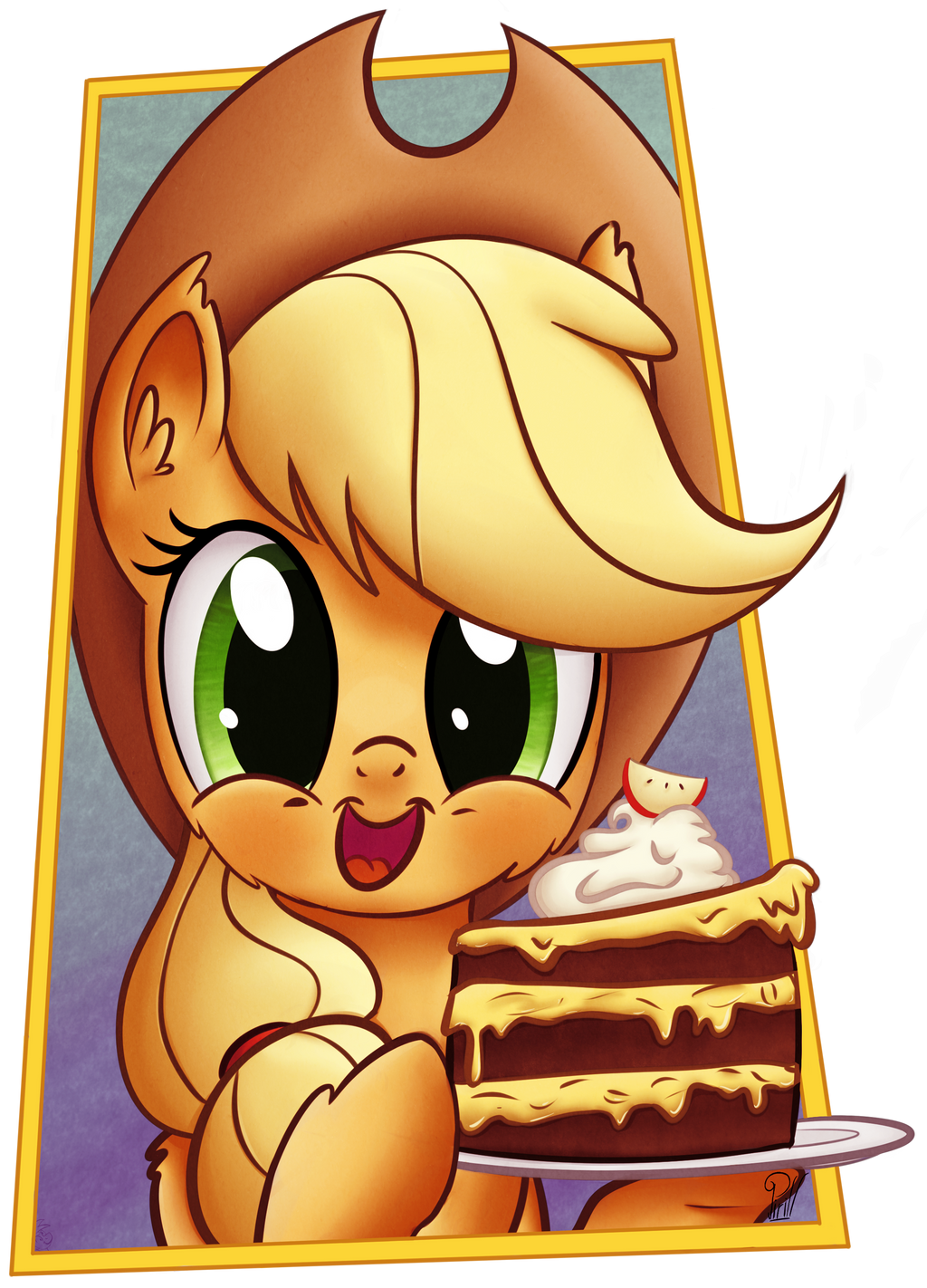 -Gift- Apple Cake by Pirill-Poveniy
