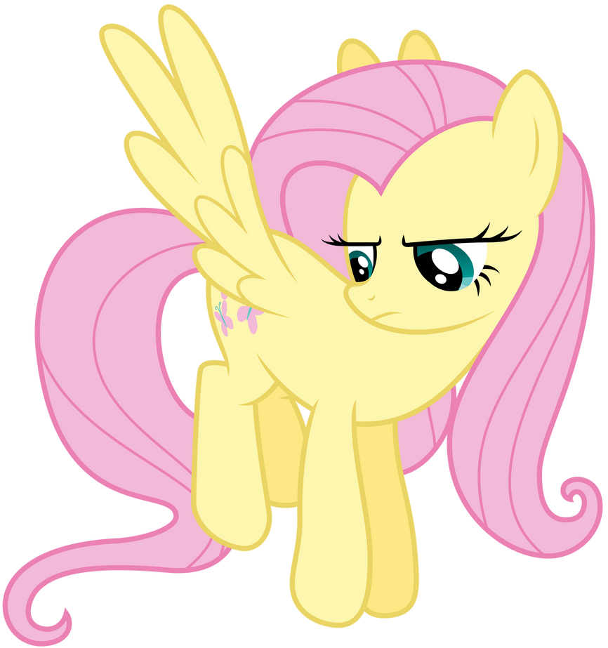 -V- Unamused Fluttershy by Pirill-Poveniy