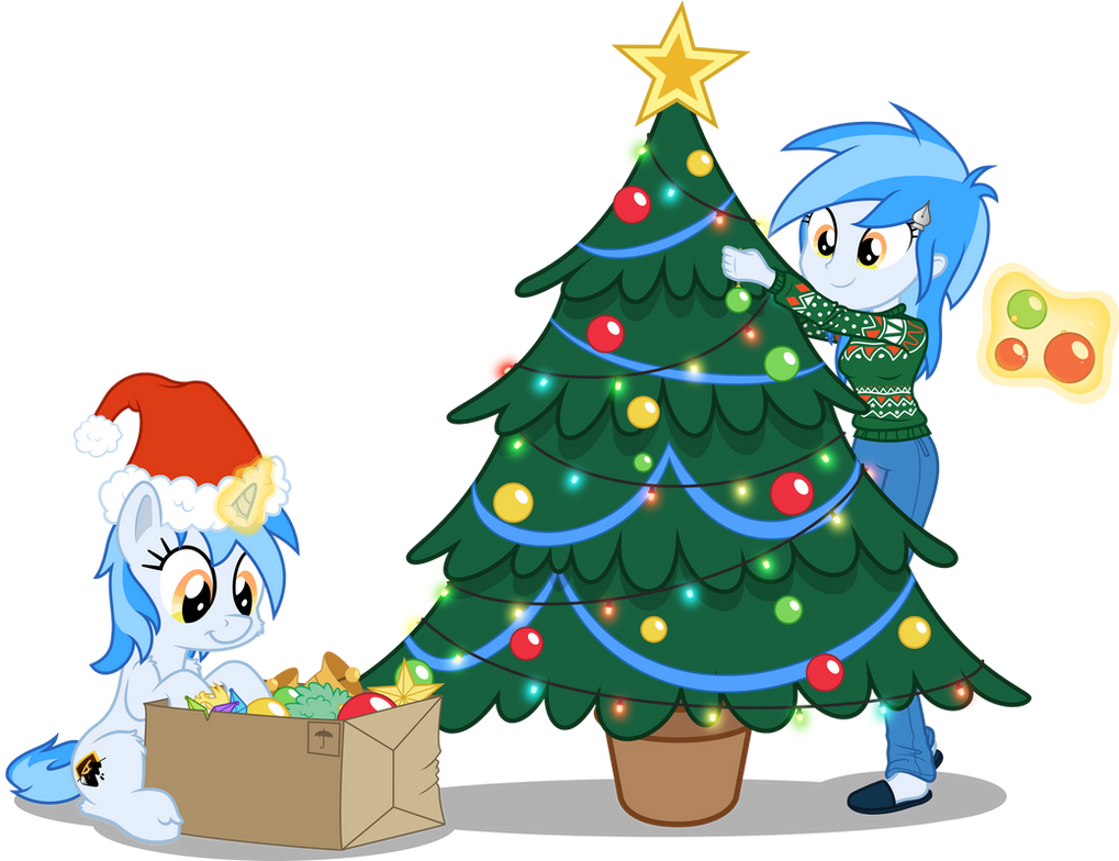 - Collab - Christmas Vector of the MLP-VC Mascot by Pirill-Poveniy