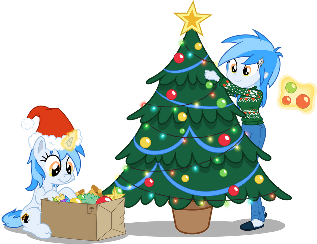 - Collab - Christmas Vector of the MLP-VC Mascot