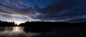 Lagoon at sunset by Lasqueti-Ronnie