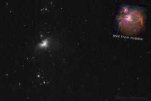 The Orion Nebula (M42) by Lasqueti-Ronnie