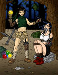 Tifa robbed by Yuffie