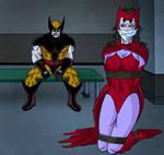 Scarlet Witch captured by Wolverine