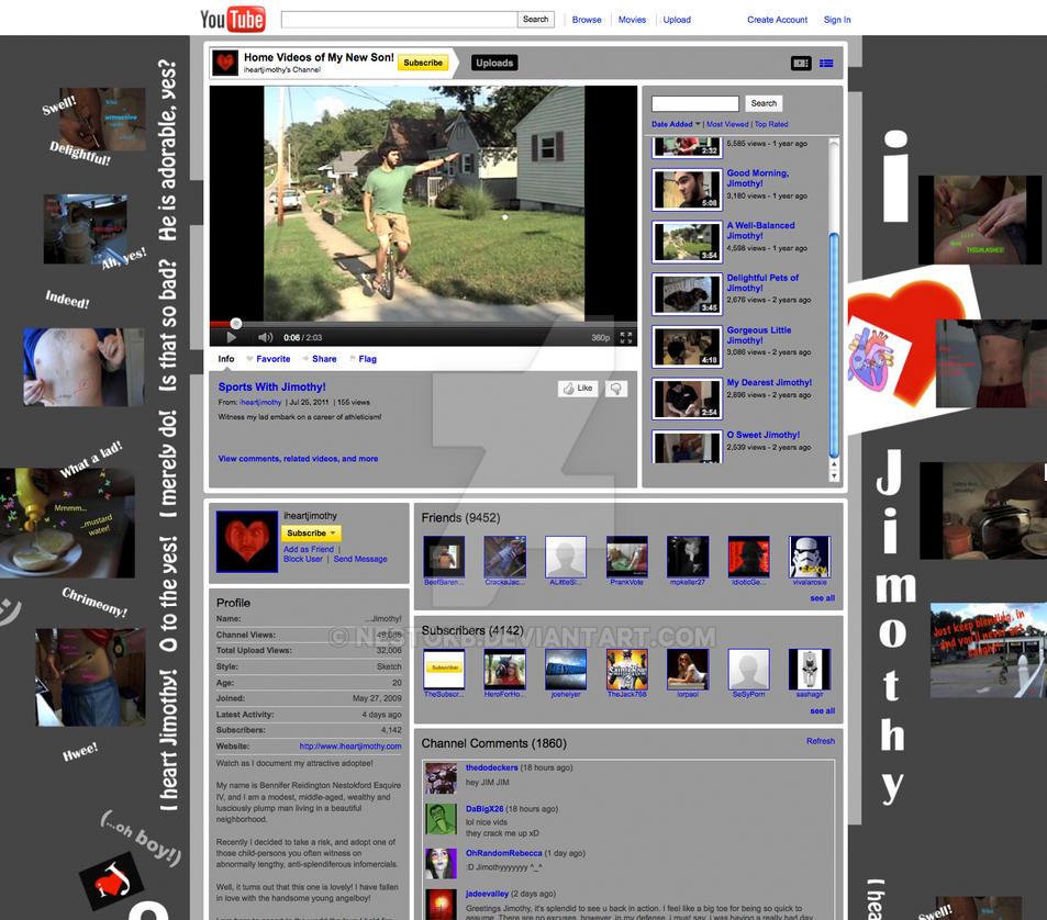 youtube.com/iheartjimothy (old channel design 1) by nestokb on ...