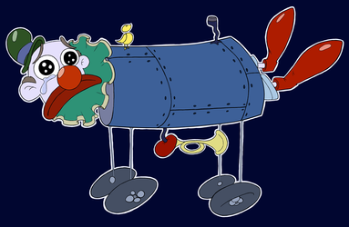 A Sad Crying Clown in an Iron Lung by LittleEdward