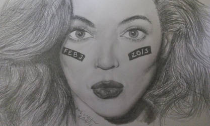 A Beyonce Portrait by TheArtisticTiger
