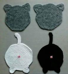 Cat lovers' coasters by kokosiak80