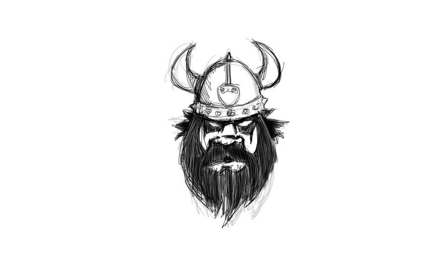 Viking Sketch for Hockey Logo 2 by garald4