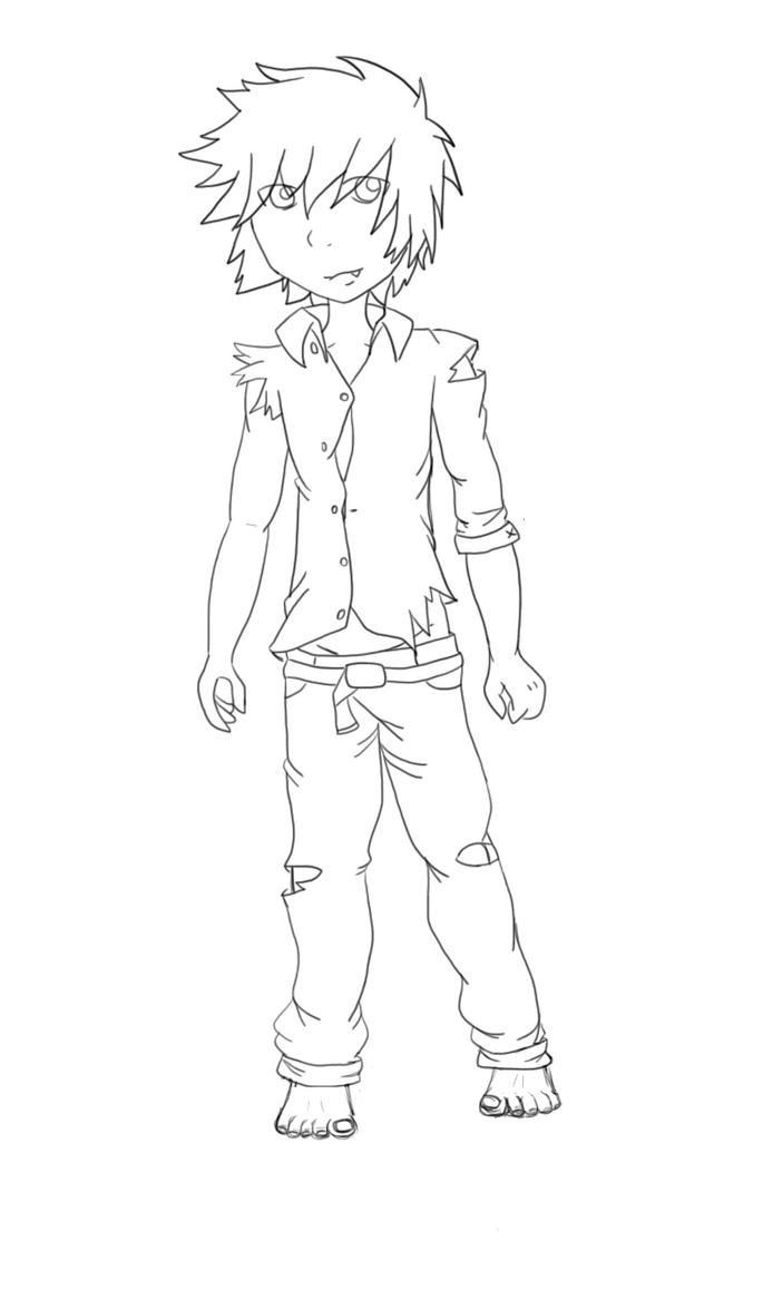 Wolf Boy Coloring Pages