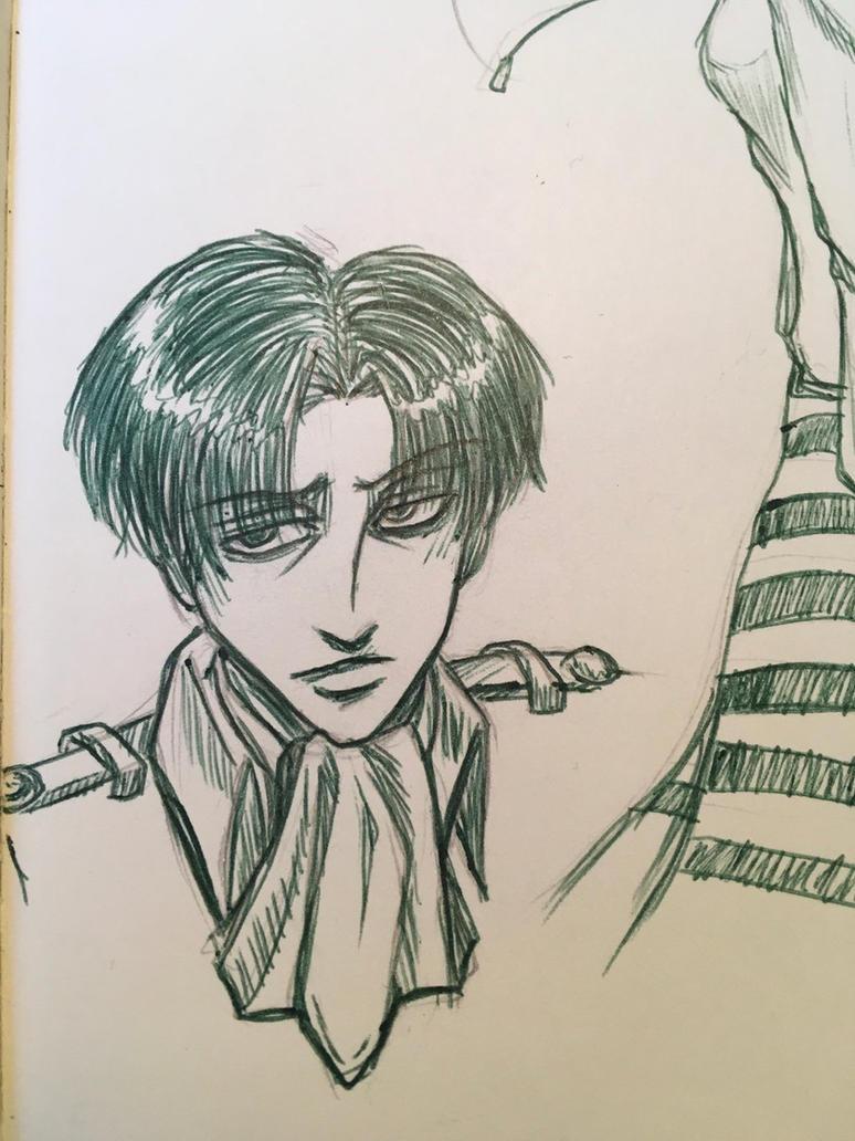 Sketchbook drawings-Levi Ackerman  by RubyRojos