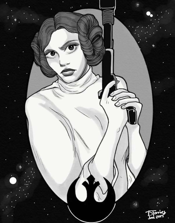 Princess Leia by RubyRojos