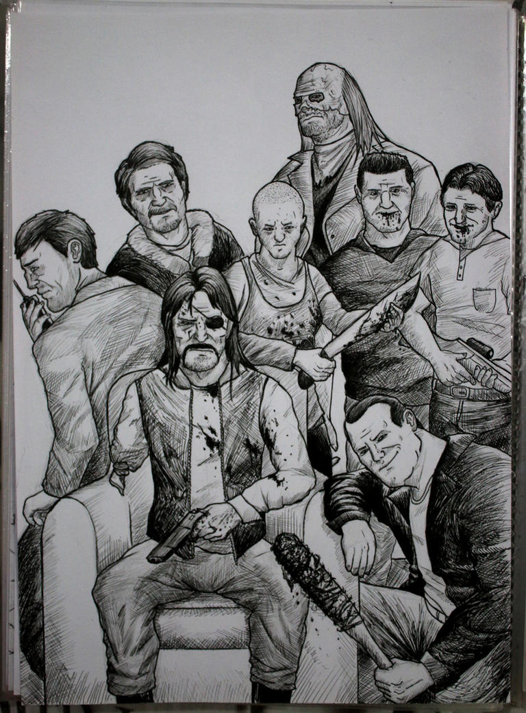 The Walking Dead villains by Luca-Chernobyl