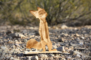 Zootopia - Nick Wilde stand-up laser cut by Earth-Pony