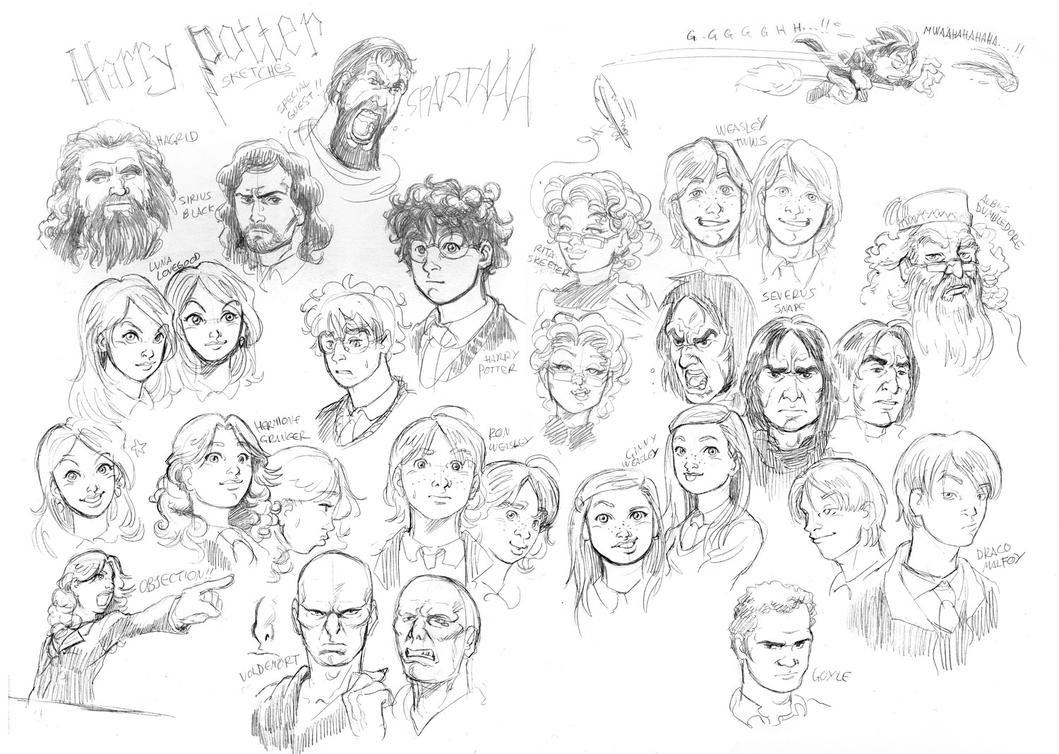 Sketching some Harry Potter by MarcelPerez