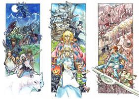 Ghibli Prints for BF Studio by MarcelPerez