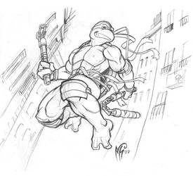 TMNT Michaelangelo Sketch by MarcelPerez