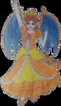 Charsy or Dairizard(Charizard/Daisy) Cutout by Tabacookie