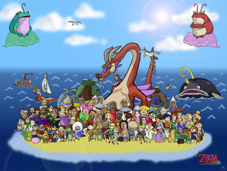 Zelda Wind Waker MegaPoster by Mangakid92