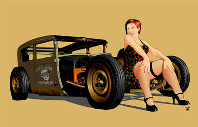 Rat Rod and Kim by cryingbear