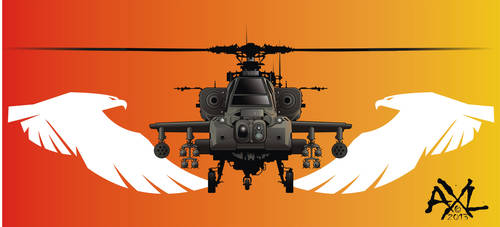 Apache Helicopter ( Front View ) by cryingbear