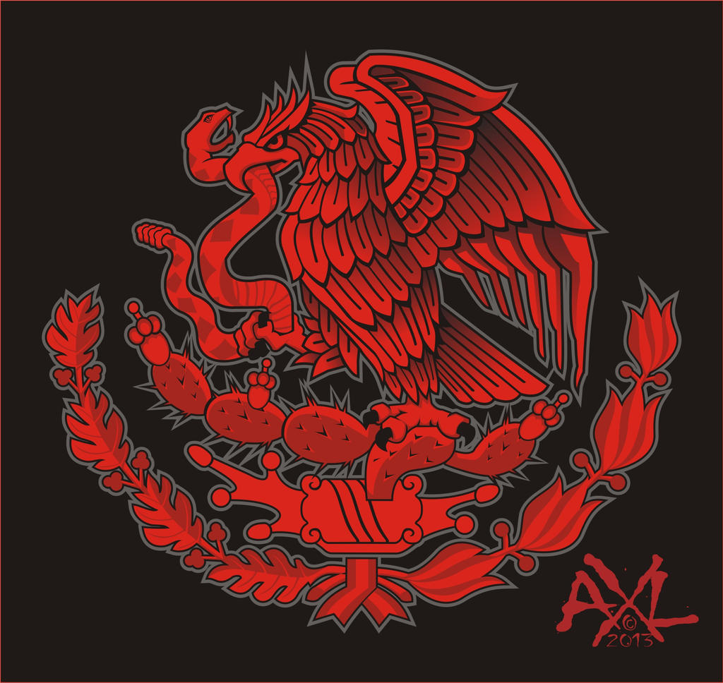 eagle mexico crest t shirt design by cryingbear on deviantart