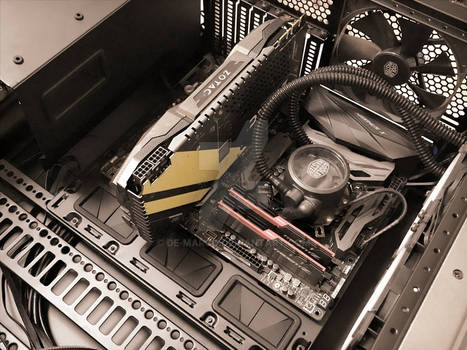 My Pc. Cooler Master cooling test