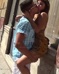 Cute teen and romantic love on the street (2)