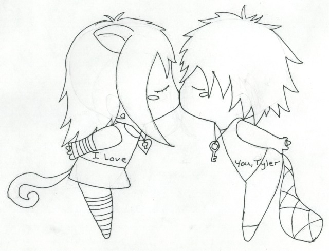Anime Characters Kissing Drawing : Kissing chibis by xxai lovexx on deviantart