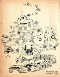 dual headphone by TOPH91
