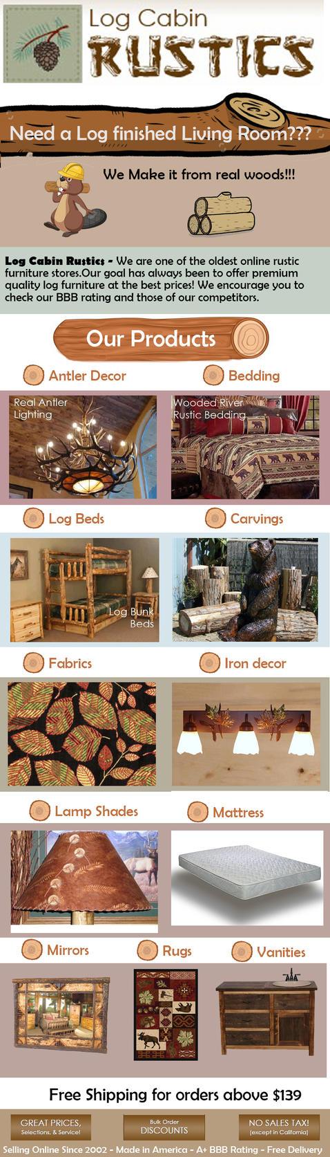 Log Cabin Rustics Infographics by logcabinrustics