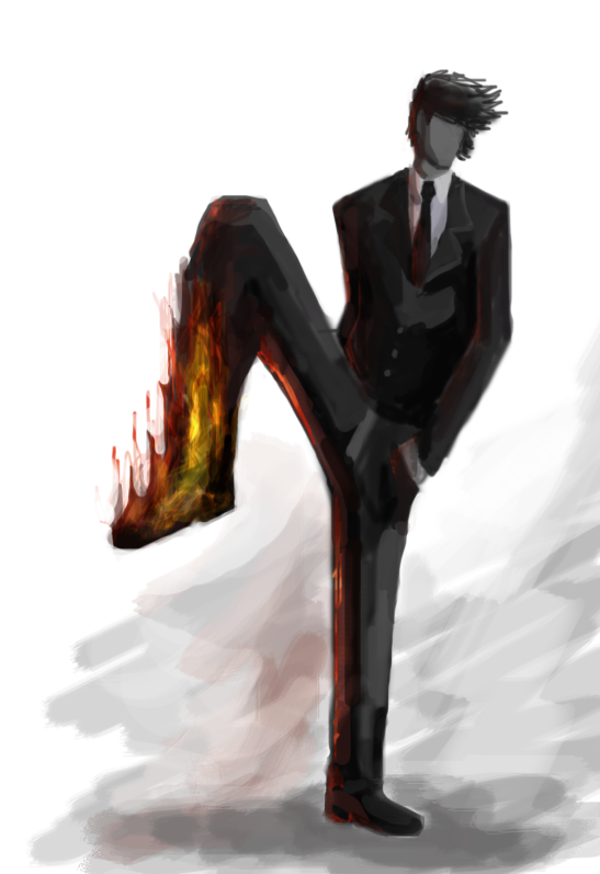 Image result for leg on fire