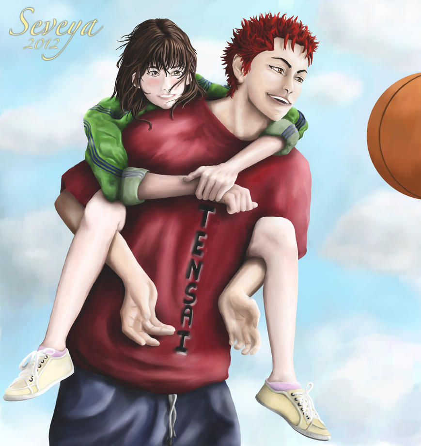 Slam Dunk Rukawa And Sakuragi: Happy Days Hanamichi Haruko By Seveya On DeviantArt