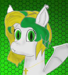 My first digital art! (my OC Butter as a bat pony) by mrdougthebrony