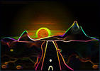 psychedelic desert by Vikasuperstar
