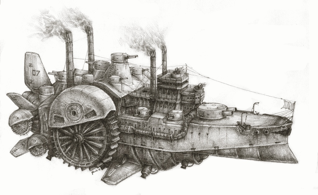 Paddlesteamer of Doom by JanBoruta